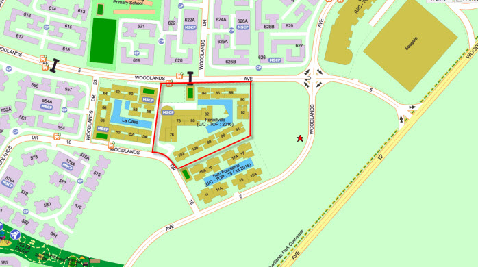 Forestville EC Location Map